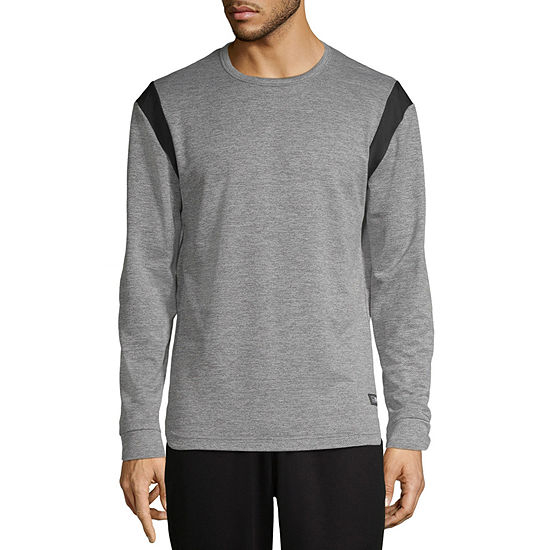 MSX By Michael Strahan Mens Crew Neck Long Sleeve Moisture Wicking T-Shirt