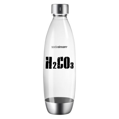 SodaStream™ 60L CO2 Canister and 1L Slim Carbonating Bottle - Clear H2CO3
