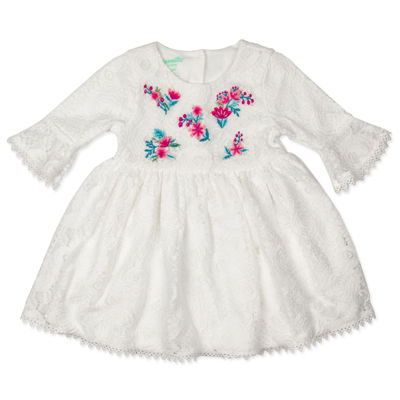 Nanette Baby Elbow Sleeve A-Line Dress - Baby Girls