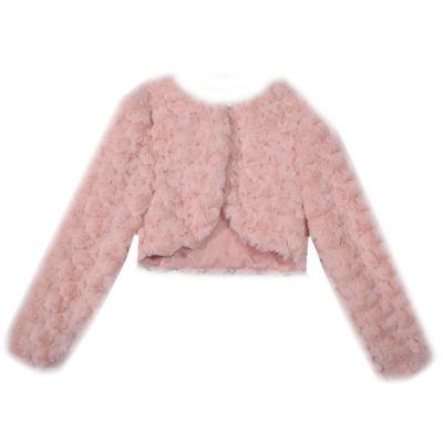 Bonnie Jean Girls Crew Neck Long Sleeve Button Cardigan Toddler