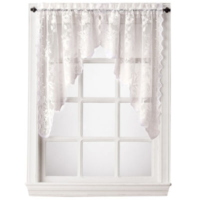 Home Expressions™ Jessica Lace Rod-Pocket Swag Valance Pair