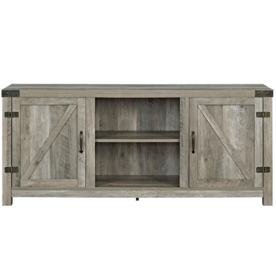 58 Barn Door Tv Stand With Side Doors Jcpenney