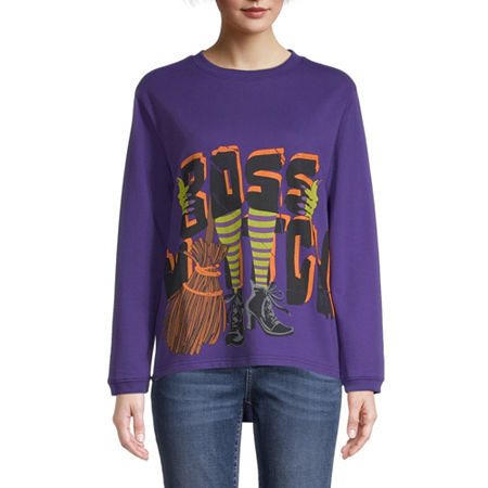Mc2 Womens Crew Neck Long Sleeve Sweatshirt, Large , Purple