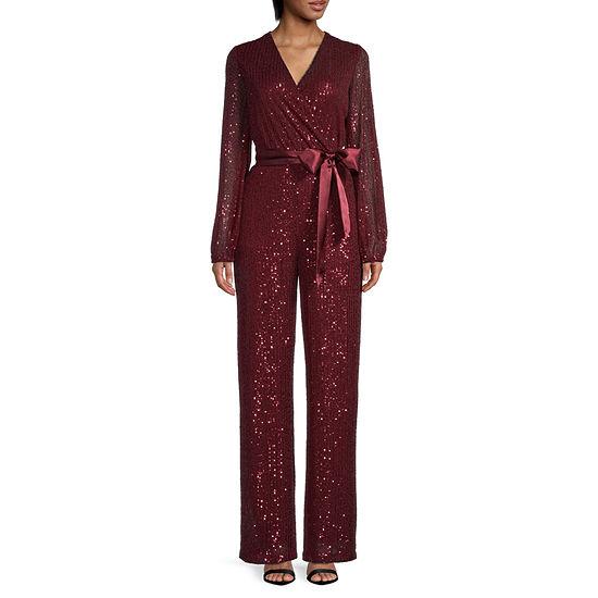 Premier Amour Long Sleeve Sequin Jumpsuit