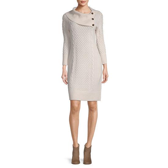 Studio 1 Long Sleeve Sweater Dress