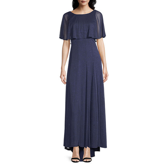 J Taylor Short Sleeve Evening Gown