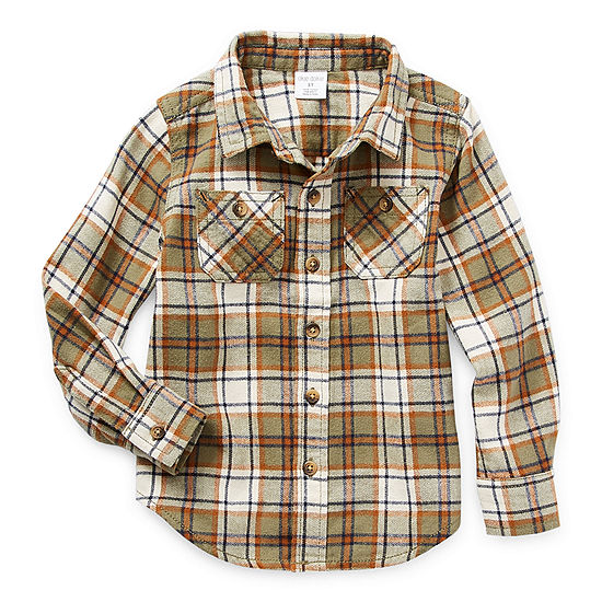 Okie Dokie Toddler Boys Long Sleeve Flannel Shirt