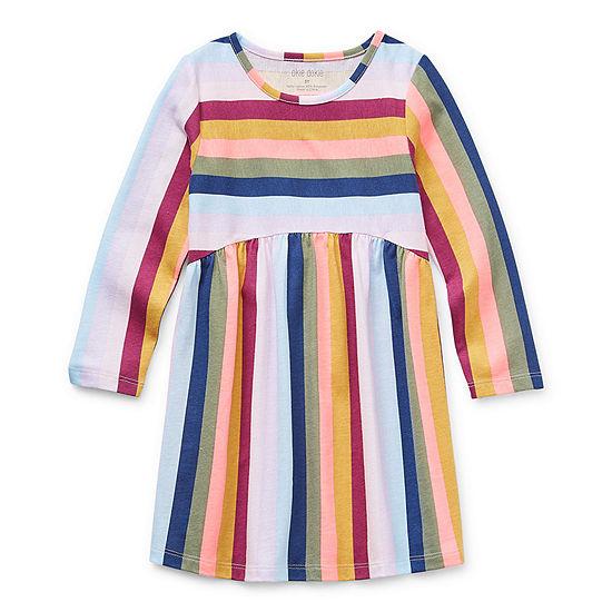 Okie Dokie Toddler Girls Long Sleeve Swing Dresses