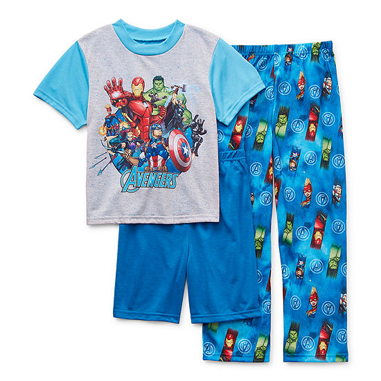 Little & Big Boys 3-pc. Avengers Pajama Set