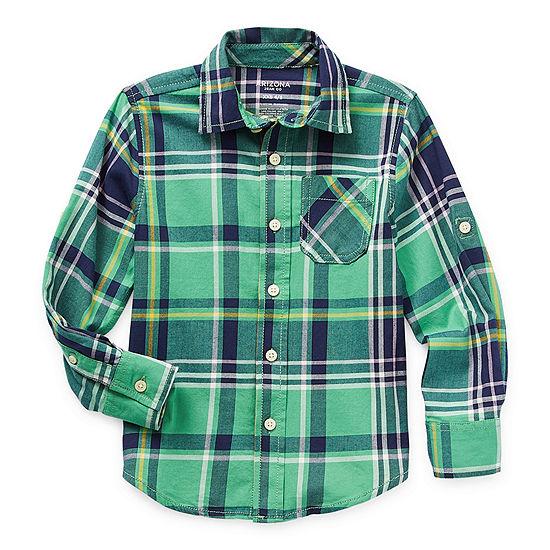 Arizona Little & Big Boys Long Sleeve Button-Down Shirt