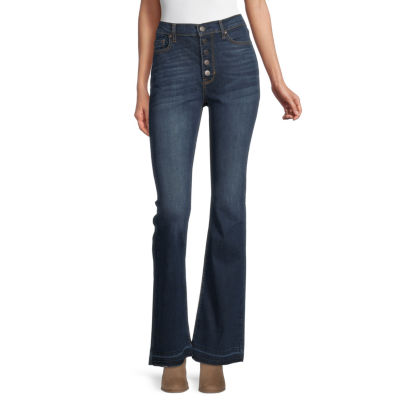 a.n.a Womens High Rise Released Hem Flare Jean