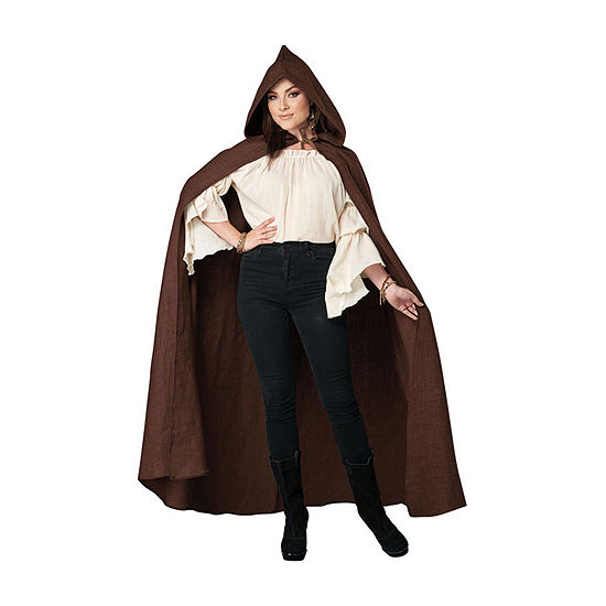 Adult Brown Hooded Cloak (Os) Unisex Adult Costume