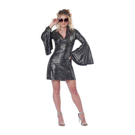Ladies Disco Queen Dress Womens Costume