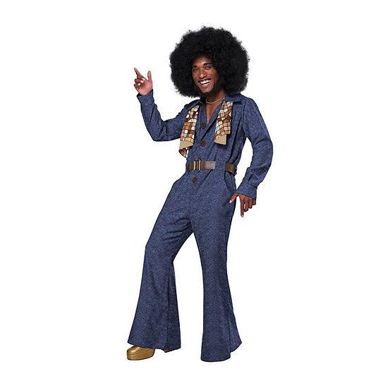 Mens 70's Denim Jumpsuit Costume