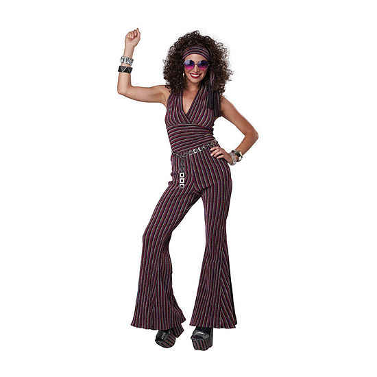 70'S Halter Pant Suit Womens Costume