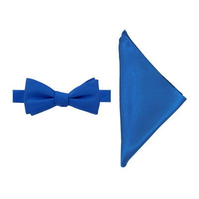 JF J. Ferrar® Pre-Tied Bow Tie with Pocket Square
