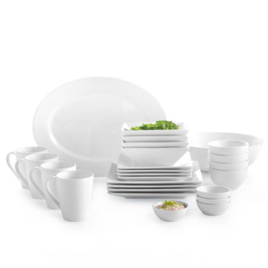 jcpenney.com | JCPenney Home™ Whiteware Square Dinnerware Collection