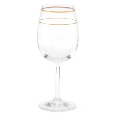 JCPenney Home™ Regency Gold Set of 6 Wine Glasses