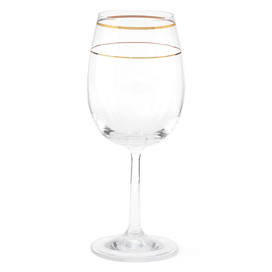 JCPenney Home™ Regency Gold Set of 6 Wine Glasses