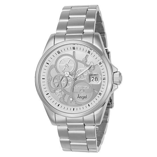 Invicta Angel Womens Silver Tone Stainless Steel Bracelet Watch-23567