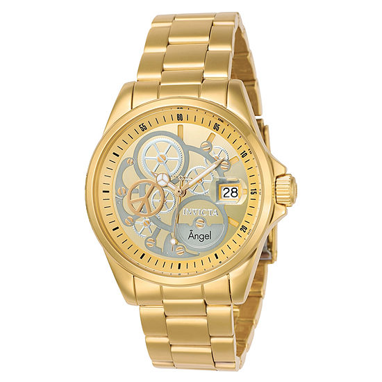 Invicta Angel Womens Gold Tone Stainless Steel Bracelet Watch-23568