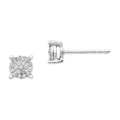 1/7 CT. T.W. Round White Diamond 14K Gold Stud Earrings