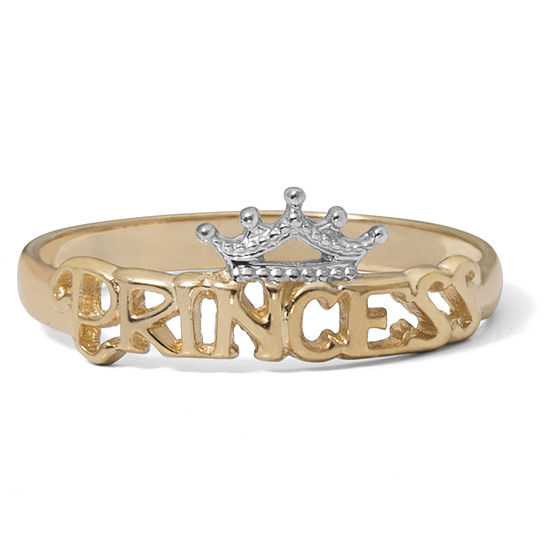 Disney® 14K Yellow Gold Gold Princess Tiara Ring