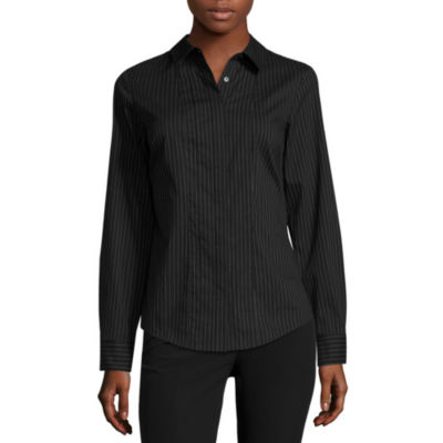 Worthington® Essential Long-Sleeve Oxford Shirt - Petite