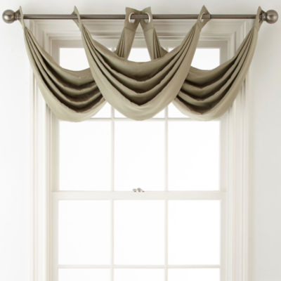 Royal Velvet Supreme Grommet-Top Waterfall Valance
