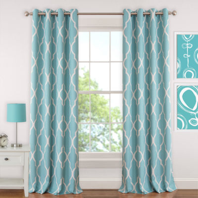 Elrene Emery Blackout Grommet-Top Curtain Panel