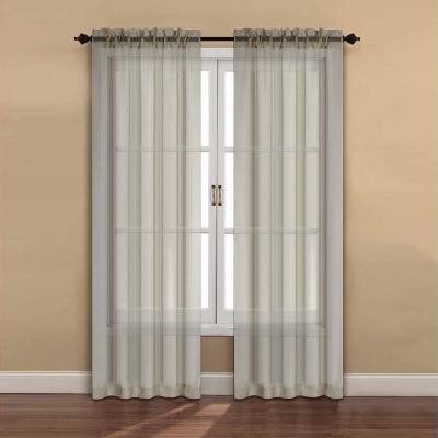 Ella 2-Pack Rod-Pocket Sheer Curtain Panel