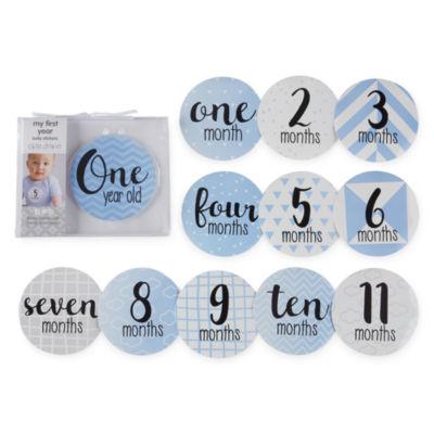 Okie Dokie Milestone Belly Stickers Baby Milestones - Boys