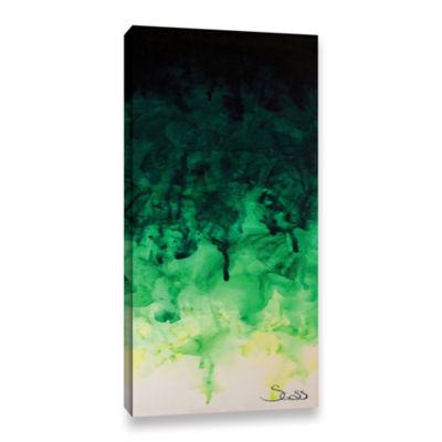 Brushstone Green Watery Gallery Wrapped Canvas Wall Art