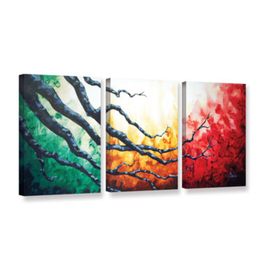 Brushstone Higher 3-pc. Gallery Wrapped Canvas Wall Art