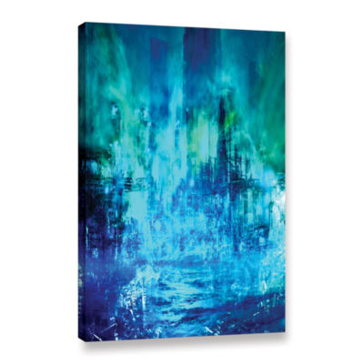 Brushstone Green To Blue Gallery Wrapped Canvas Wall Art