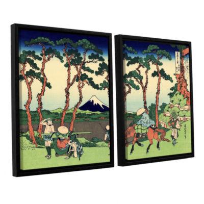 Brushstone Hodogaya On The Tokaido 2-pc. Floater Framed Canvas Wall Art