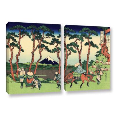 Brushstone Hodogaya On The Tokaido 2-pc. Gallery Wrapped Canvas Wall Art
