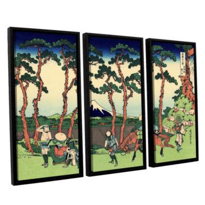 Brushstone Hodogaya On The Tokaido 3-pc. Floater Framed Canvas Wall Art