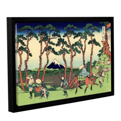 Brushstone Hodogaya On The Tokaido Gallery WrappedFloater-Framed Canvas Wall Art