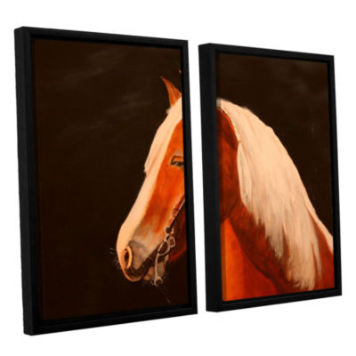 Brushstone Horse Painted 2-pc. Floater Framed Canvas Wall Art