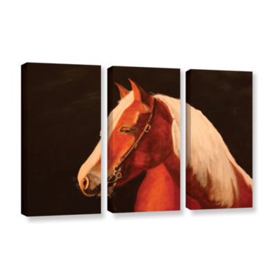 Brushstone Horse Painted 3-pc. Gallery Wrapped Canvas Wall Art