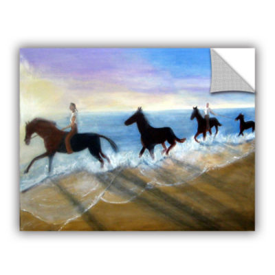 Brushstone Horses On The Beach Painting RemovableWall Decal