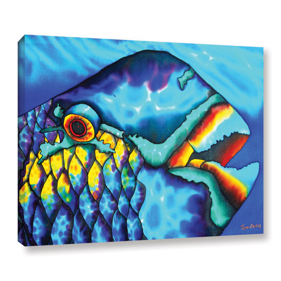 Brushstone Happy Parrotfish Gallery Wrapped CanvasWall Art