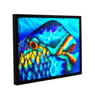 Brushstone Happy Parrotfish Gallery Wrapped Floater-Framed Canvas Wall Art