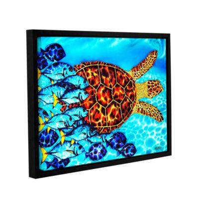 Brushstone Hawksbill & Jacks Gallery Wrapped Floater-Framed Canvas Wall Art