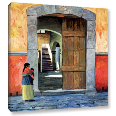 Brushstone Guanajuato Door Gallery Wrapped CanvasWall Art