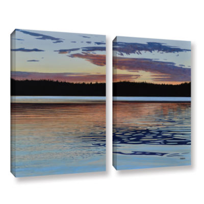 Brushstone Graham Lake 2-pc. Gallery Wrapped Canvas Wall Art
