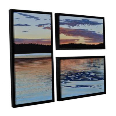 Brushstone Graham Lake 3-pc. Flag Floater Framed Canvas Wall Art