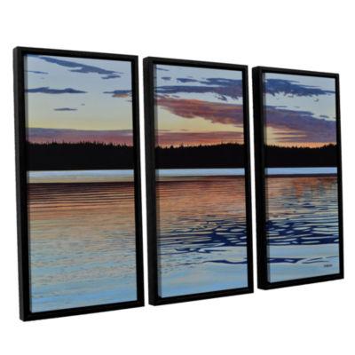 Brushstone Graham Lake 3-pc. Floater Framed CanvasWall Art