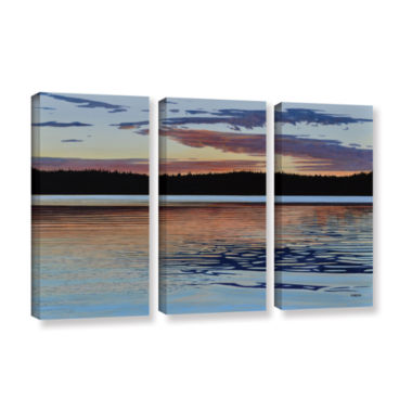 Brushstone Graham Lake 3-pc. Gallery Wrapped Canvas Wall Art